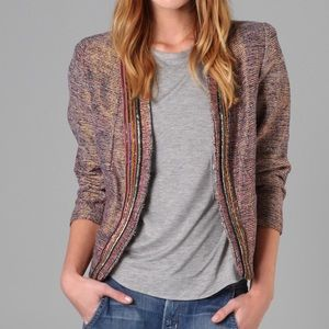 OF TWO MINDS Carolla Metallic Beaded Blazer Size 4